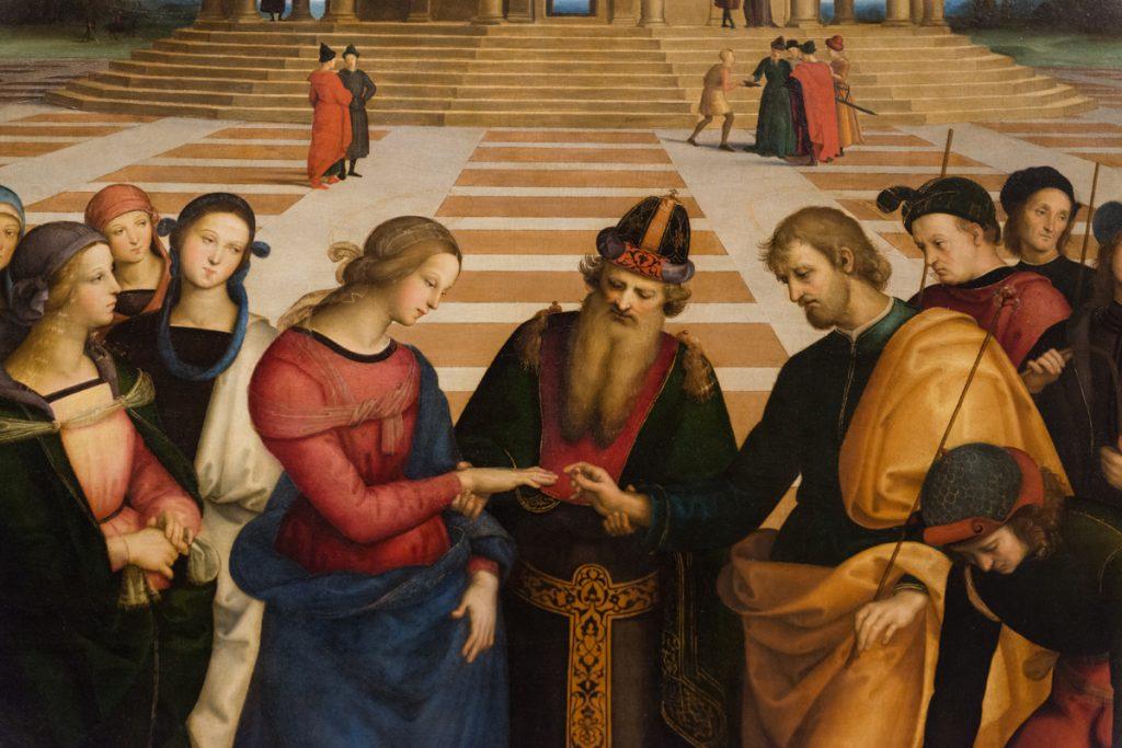 Lo Sposalizio della Vergine, Raffaello Credit: Mariagrazia Giove