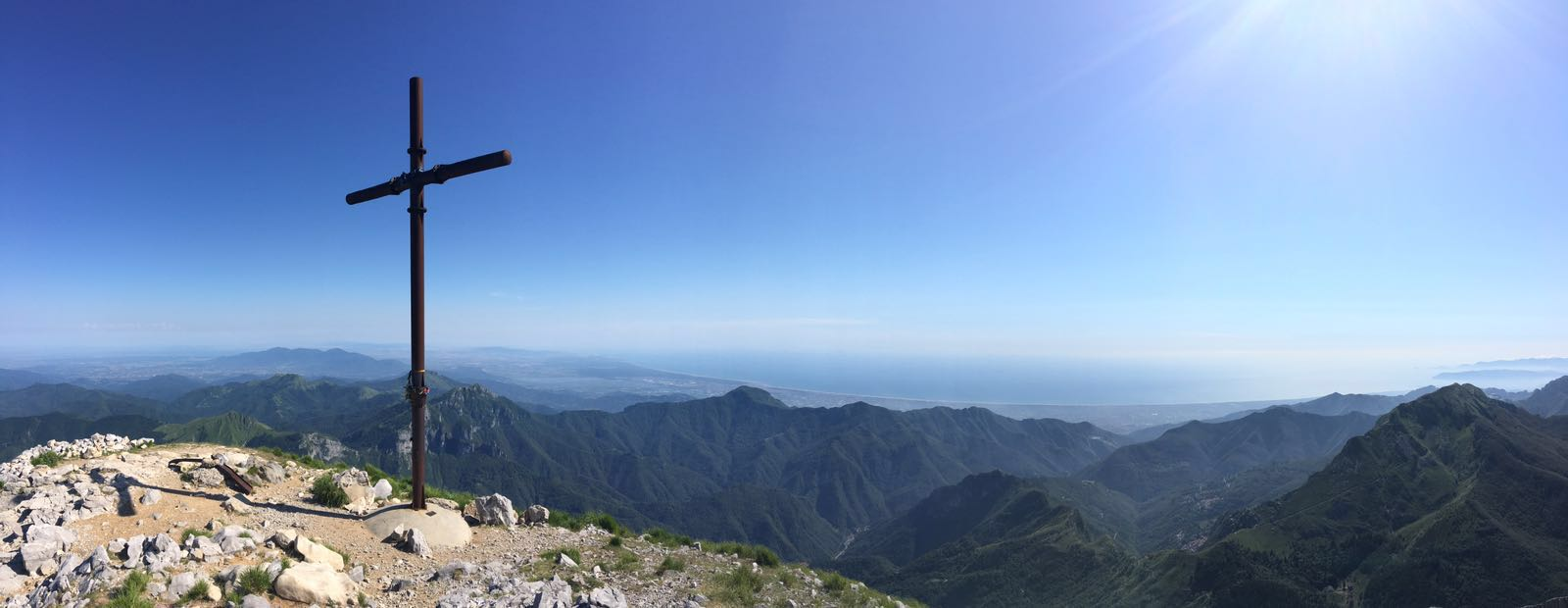 Panaroma dal Monte Pania della Croce