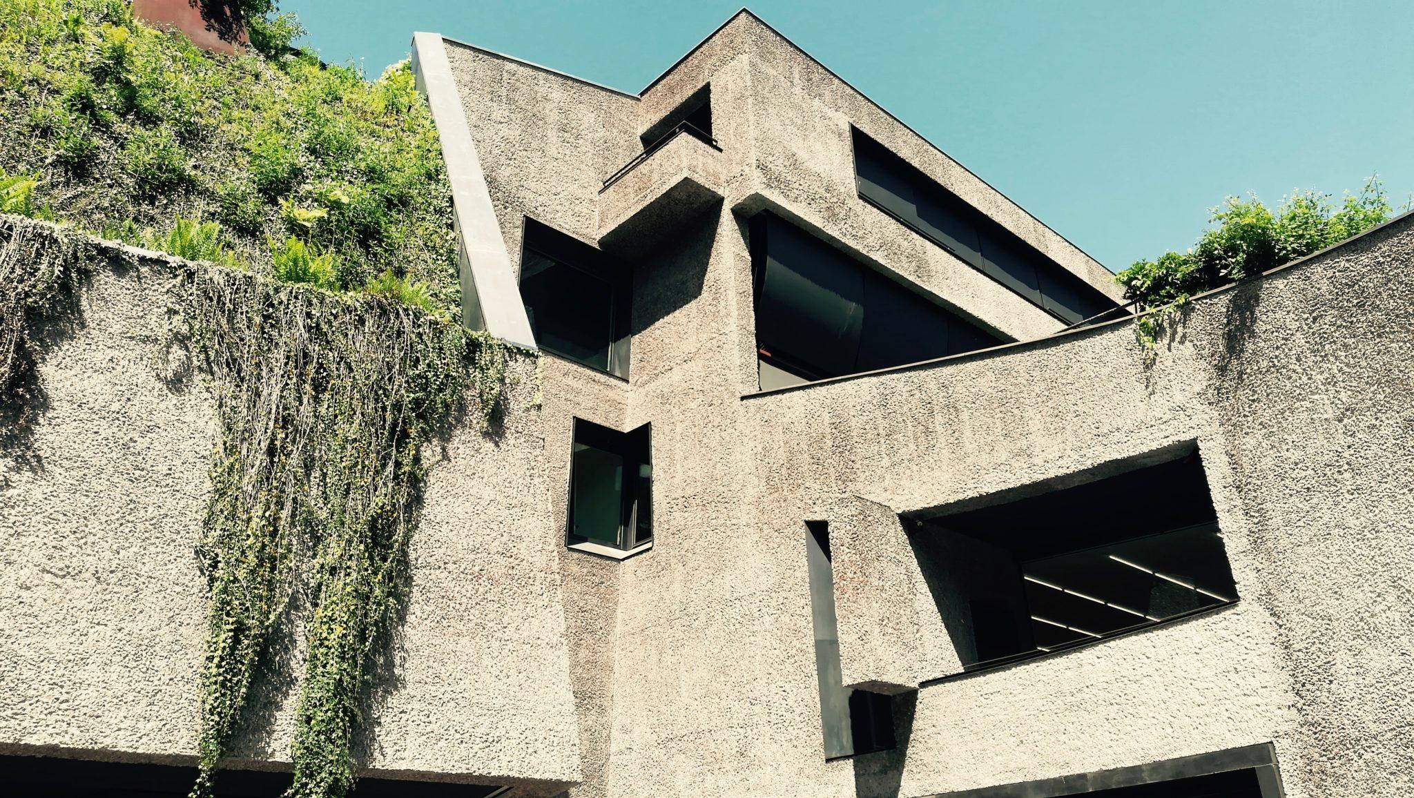 Un vascello nel ventre della montagna, immerso fra vigneti: è la Fondazione Antonio Dalle Nogare, fra arte contemporanea e architettura