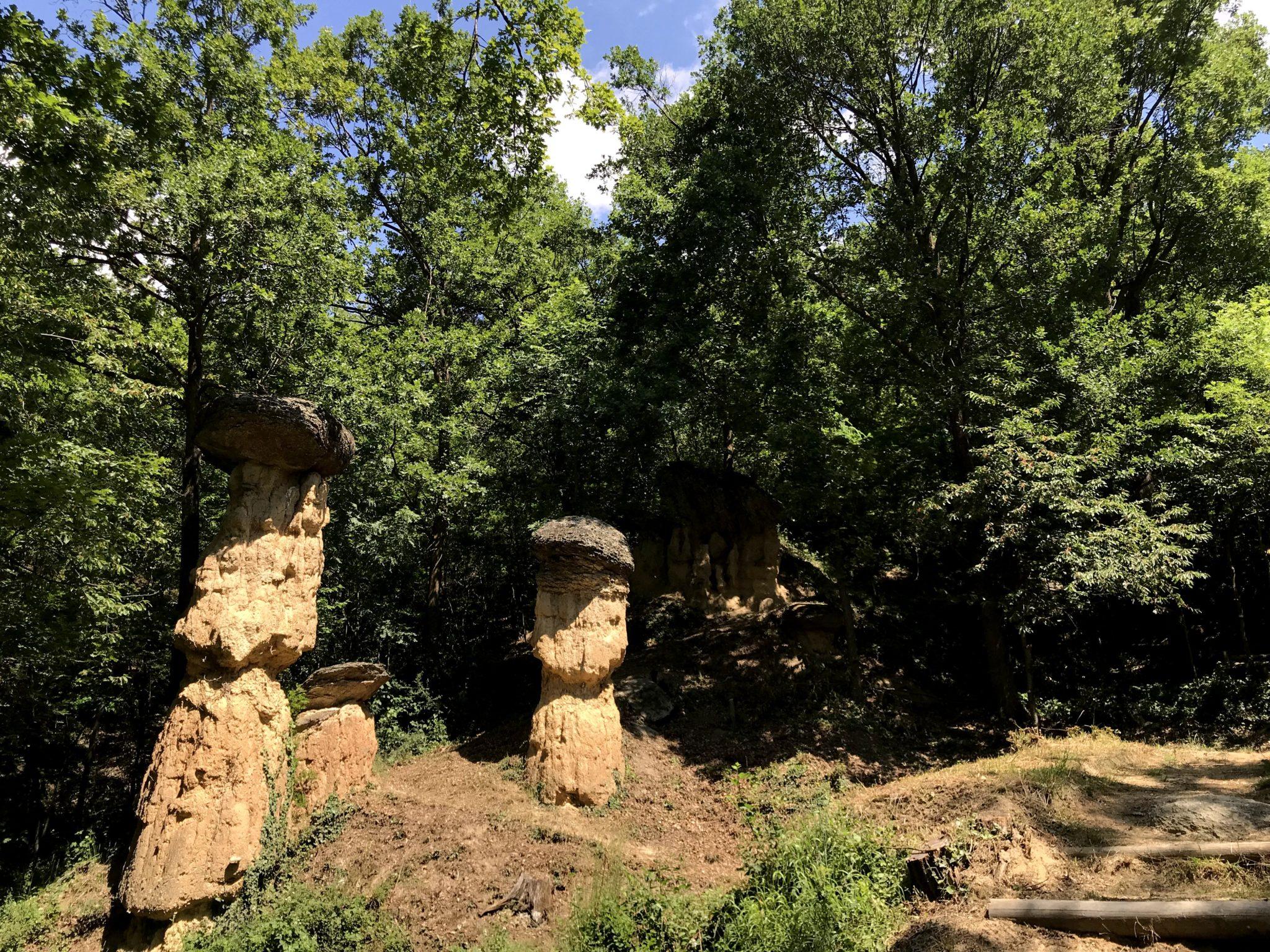 A pochi passi dalla città, la Riserva Naturale Ciciu del Vllar: escursioni in un giardino roccioso, all'orizzonte un paesaggio di funghi in pietra